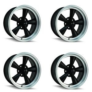Ridler 675 7861mb 675 7961mb Set Of 4 Style 675 17x8 17x9 5 5x120 65 Black Rims