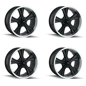 Ridler 651 8873mb 651 8973mb Set Of 4 Style 651 18x8 18x9 5 5x127 Black Rims