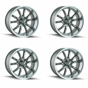 Ridler 650 8865g 650 8965g Set Of 4 Style 650 18x8 18x9 5 5x114 3 Grey Rims