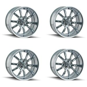 Ridler 650 5773c 650 5873c Set Of 4 Style 650 15x7 15x8 5x127 Chrome Rims