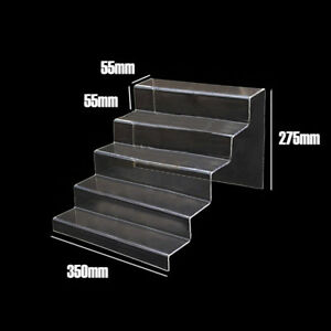 Display Riser Stand Toy Jewelry Showcase Plexiglass 5 Steps 5mm Thicknes Acrylic