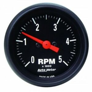 Auto Meter 2697 2 1 16 Z Series In Dash Electric Tachometer Gauge 0 5 000 Rpm