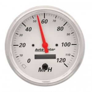 Auto Meter 1389 5 Arctic White Electric Speedometer Gauge 0 120 Mph