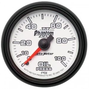 Auto Meter 7521 2 1 16 Phantom Ii Mechanical Oil Pressure Gauge 0 100 Psi