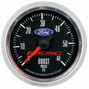 Auto Meter 880106 2 1 16 Ford Racing Mechanical Boost Gauge 0 60 Psi