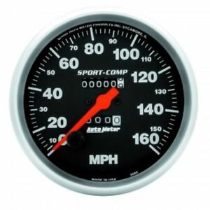 Auto Meter 3995 5 Sport comp Mechanical Speedometer 0 160 Mph