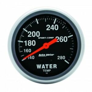 Auto Meter 3431 2 5 8 Sport Comp Mechanical Water Temperature Gauge 140 280 F