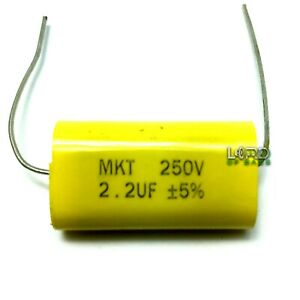 2pcs 2 2uf 250v Metallized Polyester Film Capacitor 5 Audio Crossover Tweeter