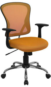 Mesh Back Mesh Fab Seat Swivel Tilt Home Office Desk Task Chairs W arms 8 Colors