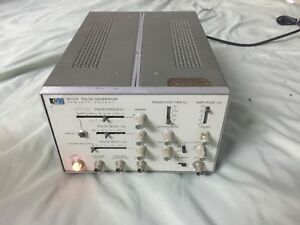 Hp 8012a Pulse generator Rep 1hz 50mhz Output Max 50 V Risetime 5ns 0 5s