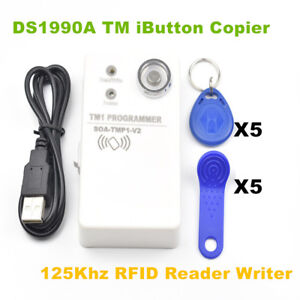 Ds1990a Tm Ibutton Rw1990 Copier 125khz Rfid Em4305 T5577 Reader Writer 10 Tags