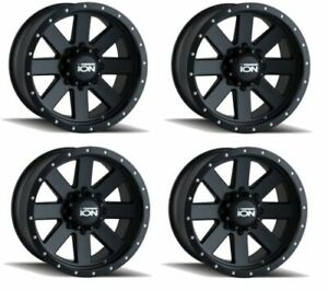 Ion Wheels 134 8970mb Set Of 4 134 Matte Black Black Beadlock 18x9 Wheels