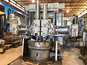 52 King Vertical Boring Mill 4 Jaw Chuck 2 Ram Heads No Pit