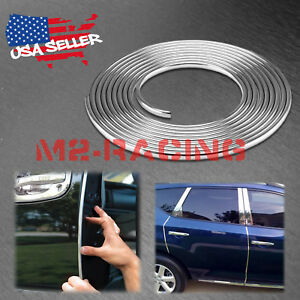 360 Long Silver Chrome Car Door Edge Guard Molding Trim Protectors Strip 30ft
