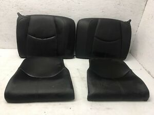 06 Porsche 997 911 Black Leather Rear Upper Lower Seat Cushions 05 07 08 09 4pcs