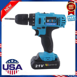 18v 21v Lithium ion Cordless Hammer Driver drill 1 4 Hex Hand Power Tool Sk