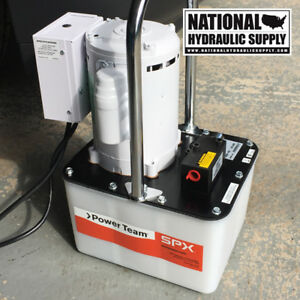 Power Team Pe172 Electric Hydraulic Pump spx portable 2 speed Single acting new