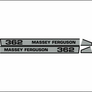 Massey Ferguson 362 Hood Decal Aftermarket