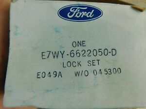 Nos 1987 1988 Mercury Cougar Door Ignition Key Lock Set Asby E7wy 6622050 D