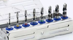 New Dental Implant Drills Kit External Irrigation With Organizer High Quality Ce