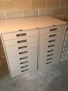 One Russ Bassett 8 Drawer Cabinet With Lock And Key