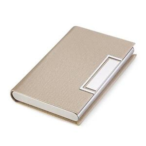 Teemzone Business Name Card Holder Luxury Leather Stainless Steel Multi