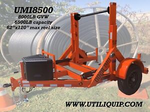 2019 Utiliquip Inc Hydraulic Cable Trailer Caddy Reel Trailer Fiber Cable Carry