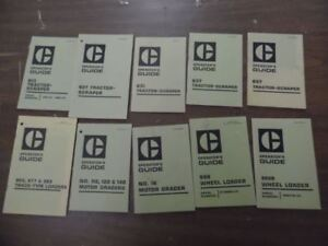 1970s Caterpillar Operator Guide Lot Of 10 Tractor Scraper Wheel Loader Graders