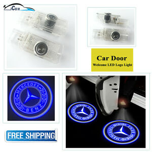 2 X Ghost Door Courtesy Shadow Laser Blue Light Mercedes Benz Gl Ml R 2005 2012