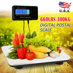 660lbs X 0 1 Lb Digital Floor Bench Scale Steel Platform Shipping Postal Pet Lcd