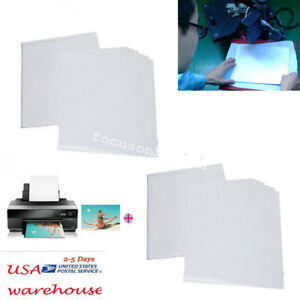 50 Sheet A4 Inkjet Heat Iron On Transfer Paper For Light Color Fabric Printer Fo