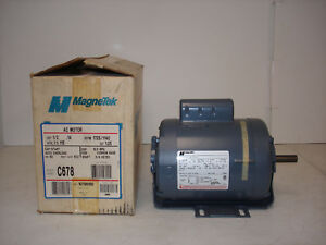 Magnetek Ac Motor C678 8 107961 02 1 2hp 1725 1140rpm 115v 1ph