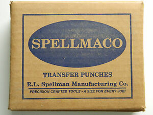 60 Piece Wire Gage Transfer Punch Set Punches Number 1 60 Usa Spellmaco S60