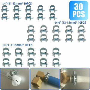 30 Pcs 1 4 5 16 3 8 Fuel Injection Gas Line Hose Clamps Clip Pipe Clamp Us