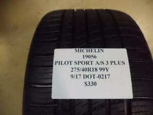2 Michelin Pilot Sport A S 3 Plus 275 40 18 99y Brand New Pair Of Tires 19056