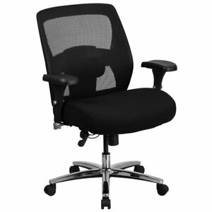 Flash Furniture Big And Tall Swivel Office Chair In Black