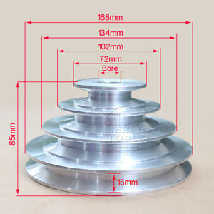 19 To 24mm Bore V Groove 4 Step Pulley For 5 8 15 8mm Belt Width Select