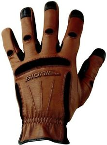 Mens Work Gloves Reinforced Fingertips Reduce Blisters Calluses Xx large Brown