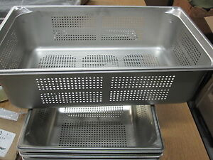 Vollrath 90063 Super Pan 3 Full Size Anti jam Stainless Steel Perforated Steam