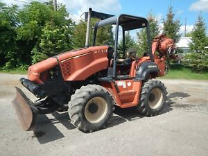 2002 Ditch Witch Rt90 With H932 Vibratory Plow Front 6 Way Backfill Plow