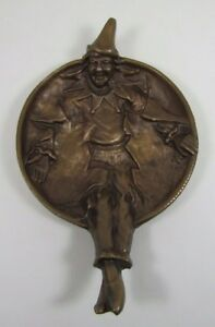 Antique Clown Tray United Brass Works Brooklyn Ny Tip Card Trinket Figural Brass