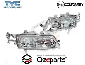 Set Pair Lh rh Head Light Lamp with Lines Type For Honda Accord Cd 1993 1997