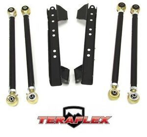 Teraflex Tj Lower Long Flexarm Control Arm Kit W Brackets 97 06 Jeep Wrangler