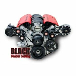 March Performance 19915 08 Black Serpentine Drive Kit For Chevy Ls1 Ls2 Ls3 Ls7