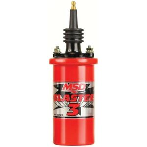 Msd Ignition 8223 Red Blaster 3 Coil For Msd Ignitions