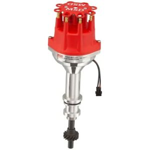 Msd Ignition 8577 Pro Billet Small Cap Distributor For Ford 351c 460 Red