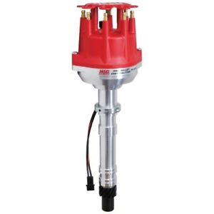 Msd Ignition 8570 Pro Billet Small Cap Distributor For Chevy V8 Red