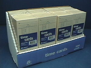 Lot Of 2000 Adams 9664a Time Cards Punch Payroll Amano Clock 2 Sided 9664a