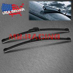 22 22 Inch One Pair Windshield Wiper Blades Bracketless J Hook Oem Quality