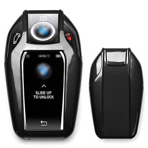 Glossy Black Key Fob Shell Cover For Bmw G11 7 Series I8 Touchscreen Smart Key